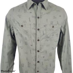 Michael Bastian Button Green Outback Shirt Size L